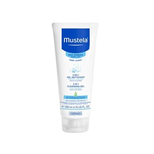 Mustela 2 İn 1 Cleansing Gel Hair & Body Wash 200 Ml - Saç Ve Vücut Şampuanı (200 Ml) /